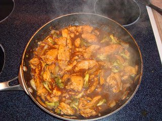 Chicken Cooking for the Stir Fry
